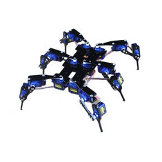 Six Feet Robot 6-Legged 18DOF Hexapod4 RC Mini Spider Robot Frame