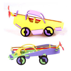 Rubber Powered Racing Car Plane Steamship Educational Toys