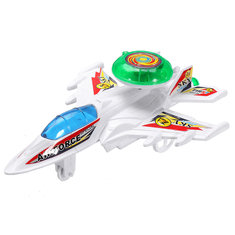 Wind Up Toys Flashlight Stretch Flying Planes Children Kids Toys Game Cheap Gift