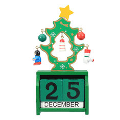 Christmas Wooden Calendar Decoration Gifts