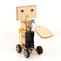 DIY Educational Electric Walking Swing Fan Robot Scientific Invention Toys