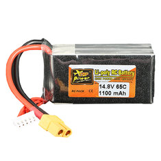 ZOP Power 14.8V 1100mAh 65C 4S Lipo Battery XT60 Plug