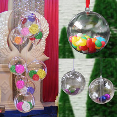 20x Christmas Clear Bauble Ornament Gift Present