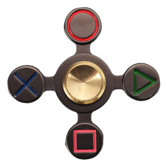 Zinc Alloy Game Button Symbol Finger Spinner For Autism And ADHD Rotation Stress Gift