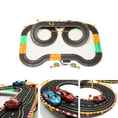 HZ Hand-Dynamo Roadster Track Toy Double Competitive Toys with Lamp