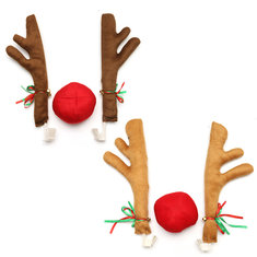 3PCS Christmas Car Decoration Elk Antlers Nose Ornaments For Kids Children Gift Toys