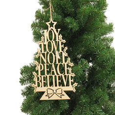 Christmas Party Home Decoration English Alphabet Tree Hanging Ornament Toys For Kids Children Gift