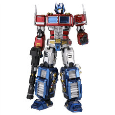 MU DIY 9.4Inch Height Optimus Prime Transformers Assembled Model Kit 3D Metal Nano Puzzle Kids Toys