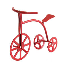 1/12 Scale Red Bicycle Dollhouse DIY Miniature Furniture Accessories For Dollhouse