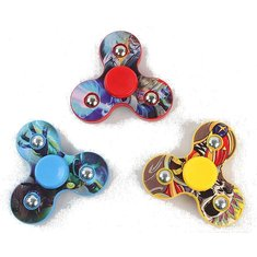 Plastic Tri Spinner Rotating Fidget Hand Spinner ADHD Autism Reduce Stress Focus Attention Toys