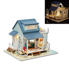 CuteRoom A-037-A Caribbean DIY Dollhouse Miniature Kit With Light Music Motor