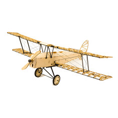 De Havilland Tiger Moth X10 400mm Wingspan RC Airplane Static Model Unassembled