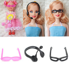 Doll House Doll Fashion Accessories Microphone Glasses Girl Toy