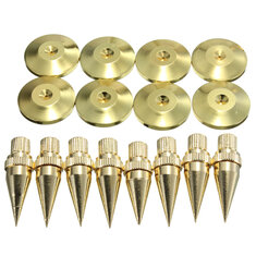 8PCS M6*36 Speaker Spike Isolation Spike Stand Foot Speaker Cone Base Pads