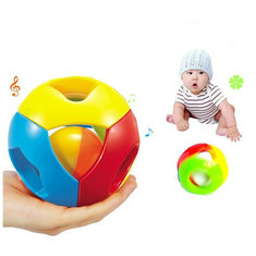 Infant Baby Rattles Socks Brain Game Colorful Bells Ball for Hearing And Finger Flex