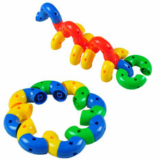 55PCS/Set Creative Rotating 360 Degrees Bend Toys For Childrens Intelligence
