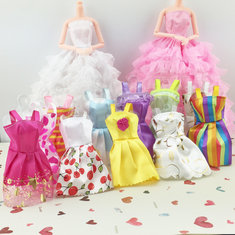 10PCS Beautiful Party Clothes Fashion Dress For Noble Doll Mixed Style