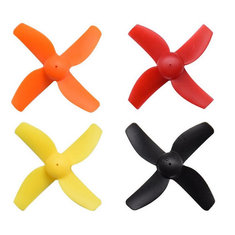 4 Pairs HB41 41mm 4-blade Propeller 1.0mm Mounting hole for HB75 RC FPV Racing Drone