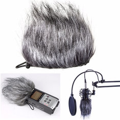 Microphone Muff Fur Windscreen For Sony D50 Zoom H1 H2N H4N Q3 Q3HD Recorder