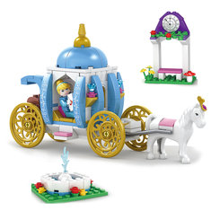 Kazi Cinderella Pumpkin Carriage Building Block Sets Toys Educational Gift 98703 Fidget Toys 238Pcs