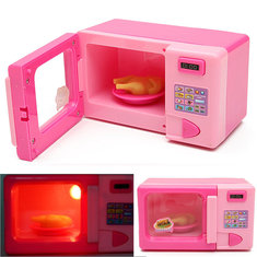 Plastic Pink Microwave Oven Kids Children Girls Home Role Play Pretend Game Toy