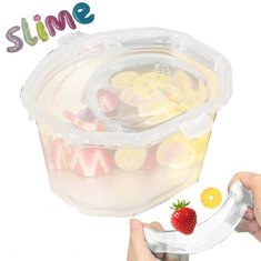 40g Clear KAWAII Slime Cute Fruit Salad Fimo Crystal putty Kids Gag Gift Toy