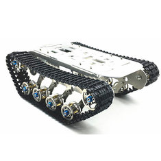 DIY Self-assembled RC Robot Tank Car Chassis With Crawler Kit Aluminium Alloy