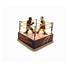 Classic Vintage Clockwork Wind Up Boxing Ring Boxers Children Kids Tin Toys With Key