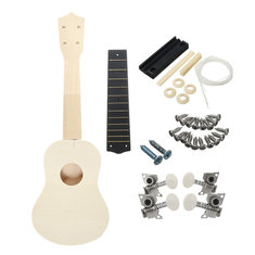 21 Inch Unassembled Wooden Ukulele With Musical Accessories for Guitar DIY