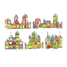 Building Blocks Tiles Kit For Building Magnetic Castle Car Blocks Toy 75PCS
