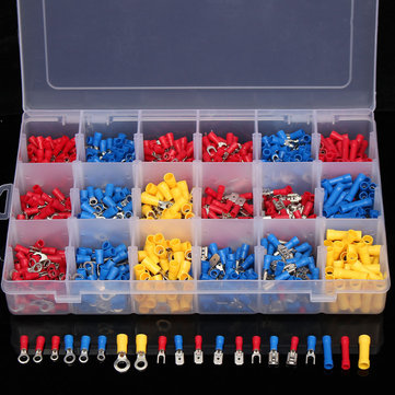 Buy 1200Pcs Insulated Electrical Wire Connector Crimp Terminals Spade Assorted Set for $13.85 in Banggood store
