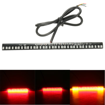Buy 12V Motorcycle 33 LED SMD Light Strip Rear Tail Brake Stop Turn Signal for $7.07 in Banggood store