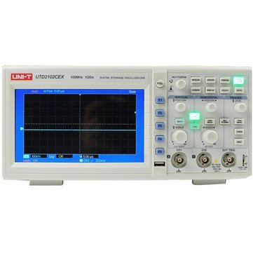 UNI-T UTD2102CEX Digital 2 Channels 1G 100MHz 7 Inch TFT LCD Storage Oscilloscope