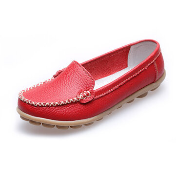 Women Casual Flats Round Toe Loafers Soft Sole Slip Flat Loafers