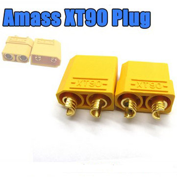 Buy Amass XT90 Male Female Bullet Connectors Plugs For RC Battery for $2.01 in Banggood store