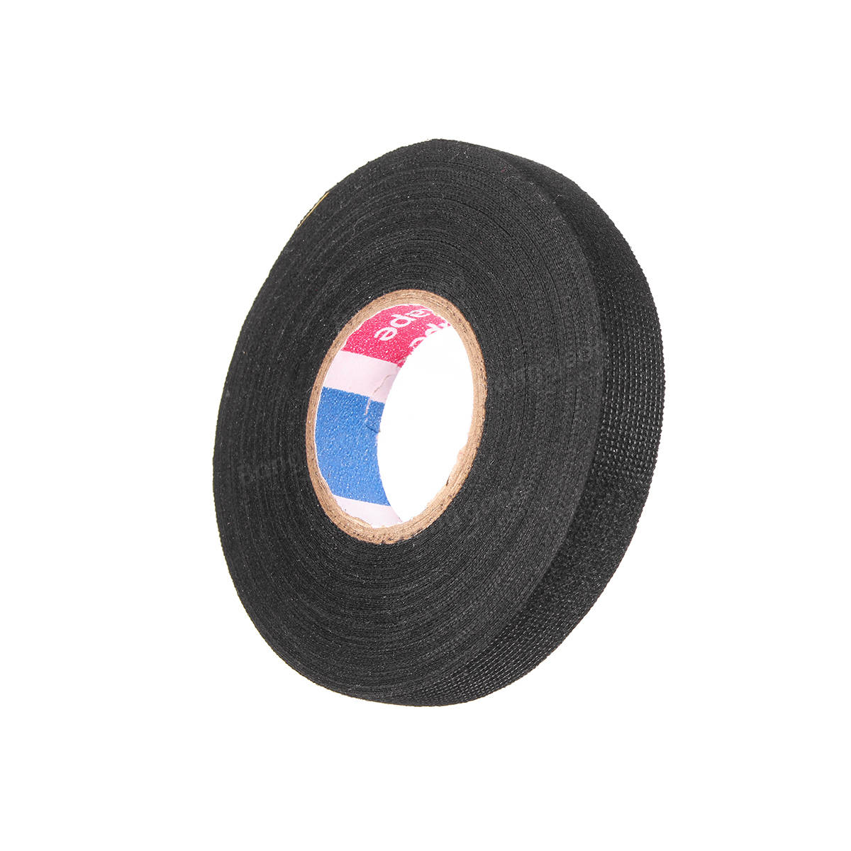 New 15mm X 15m Adhesive Cloth Fabric Tape Wool Roll Black Wiring Harness Electric Cable Wire