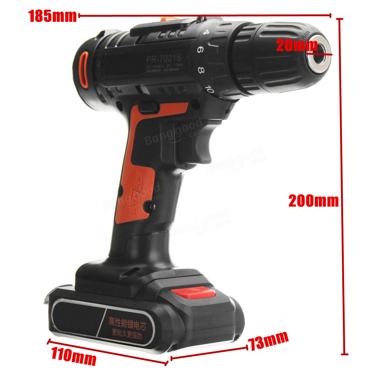 21V Cordless Lithium Electric Screwdriver Power Drill Driver Drilling Machine with Charger