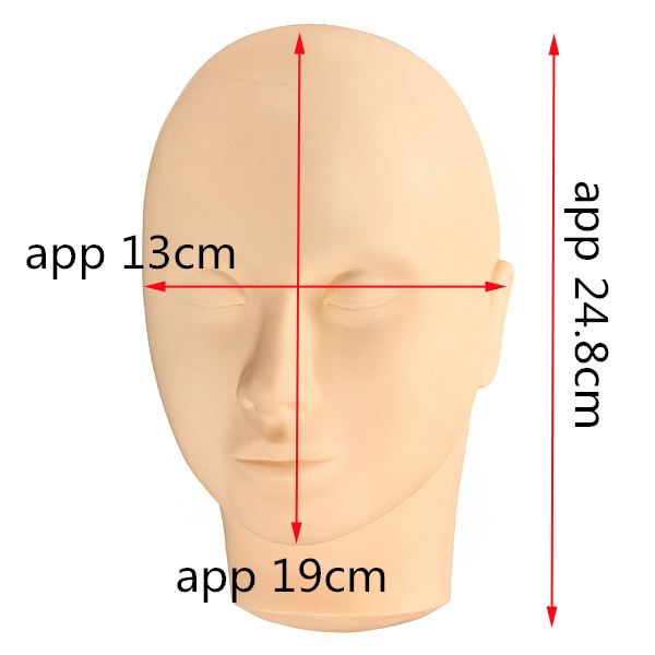 Cosmetology Face Eyelash Makeup Training Mannequin Head