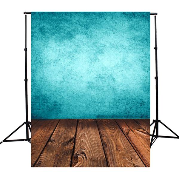 Szövet háttér fotózáshoz.Fa padlót ábrázoló stúdió háttér 1 x 1.5M