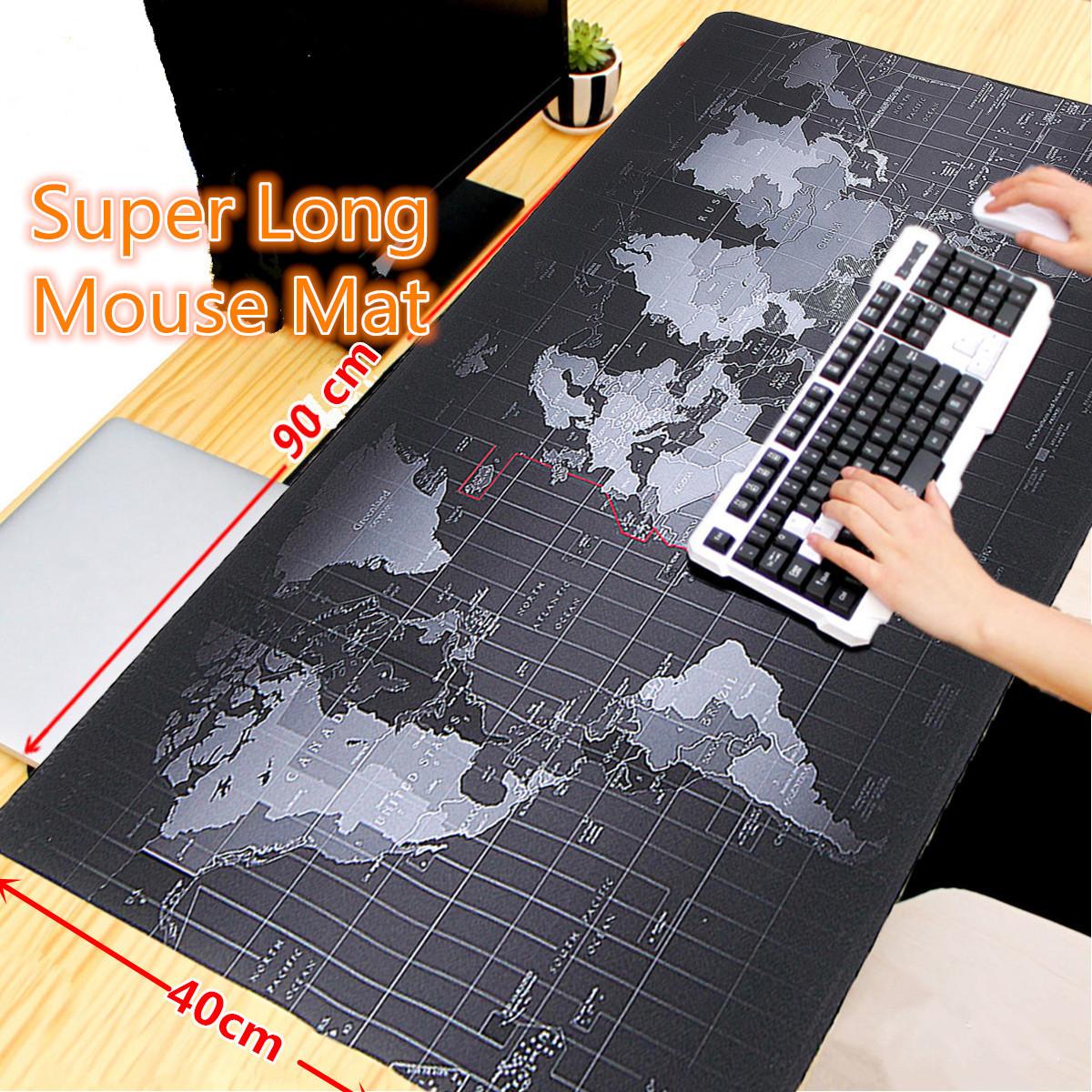 Nagyméretű világtérkép mintás egérpad 900x400x2mm