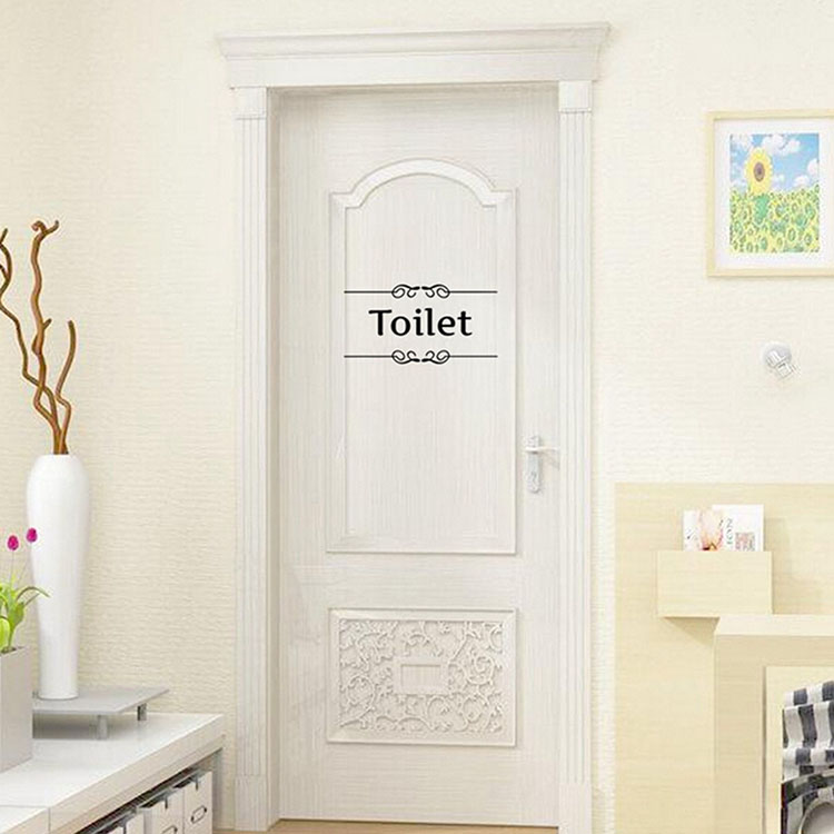Removable PVC Bathroom Toilet Wall Sticker Door Decals DIY Decor