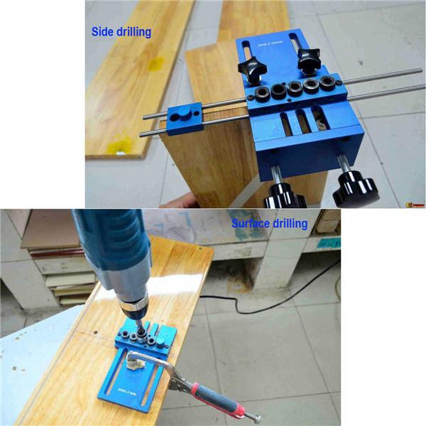 Aluminum Alloy Jig Dowelling Jig Set Wood Dowel Drilling Position Jig Wood Working Tool