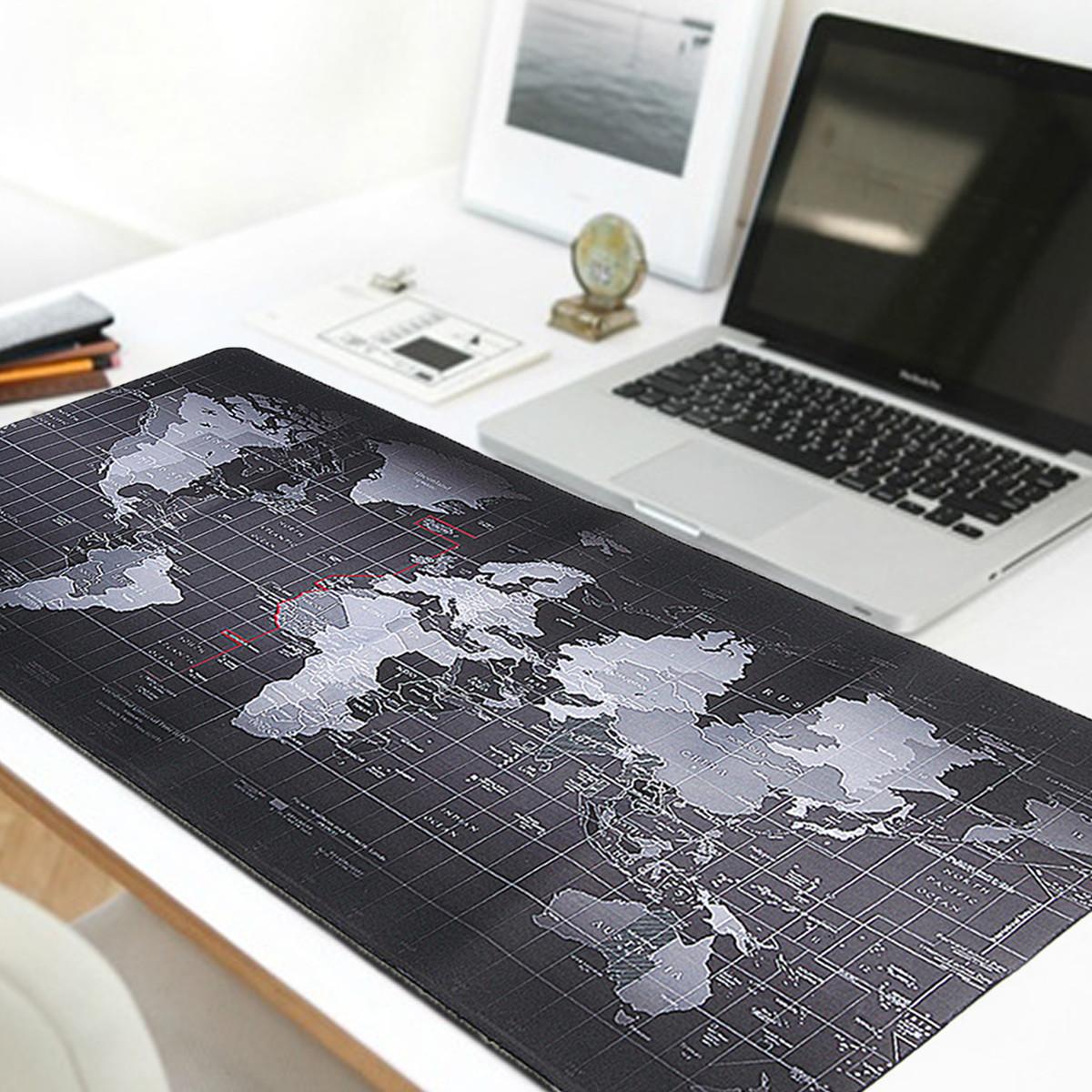 Nagyméretű világtérkép mintás egérpad 700x300x3mm