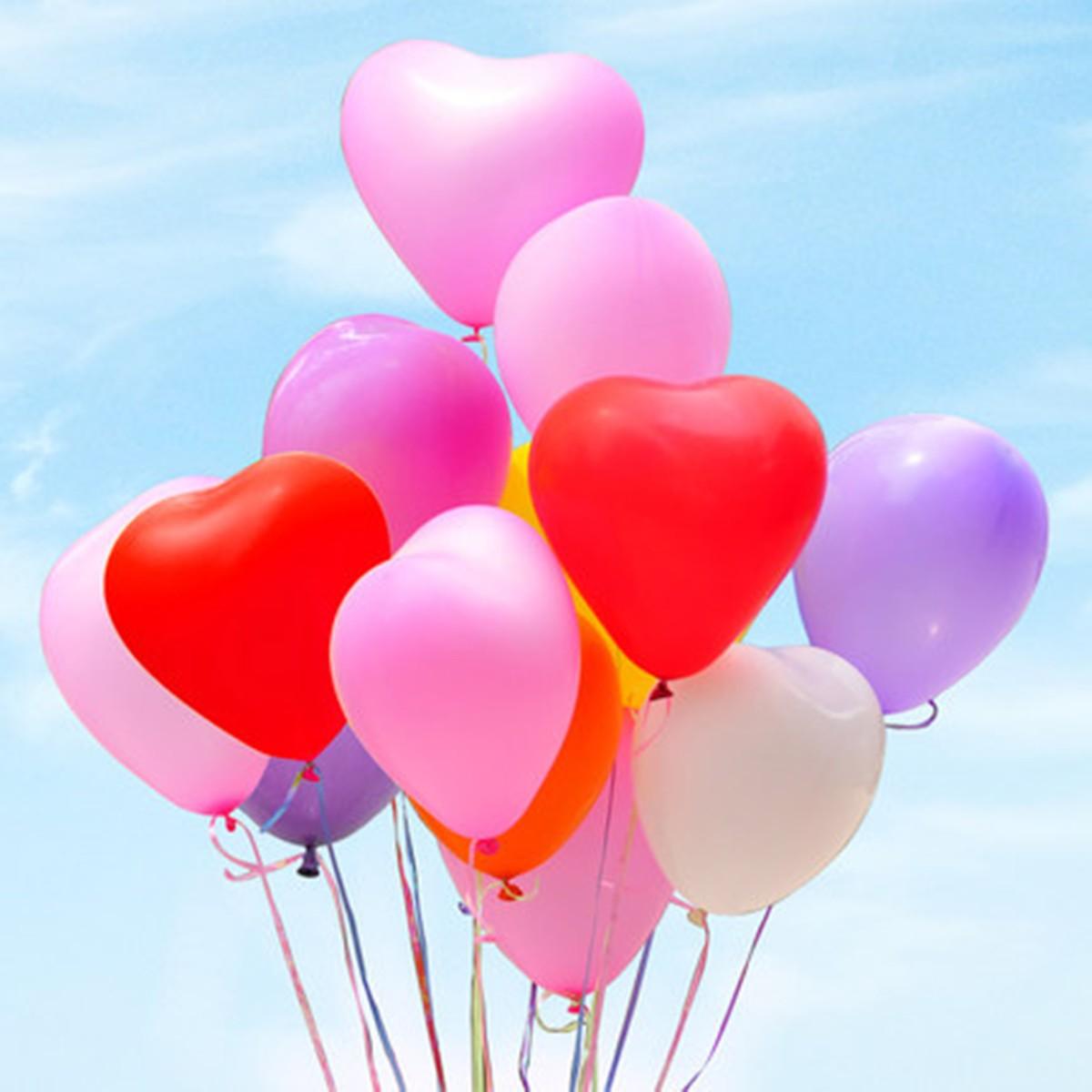 20pcs Love Heart Shape Balloon Balloons Romantic Valentine Proposal Wedding Party Decoration