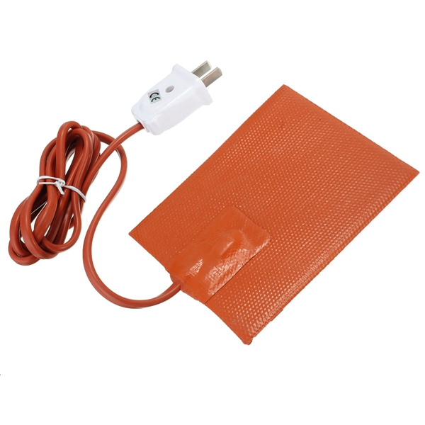 Car Engine Oil Heater Pad Silicone 100W 120V with Plug Universal