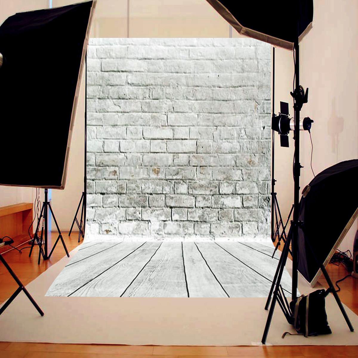 Szövet háttér fotózáshoz.Szürke tégla falat ábrázoló stúdió háttér 1.5x2.1m 1128469