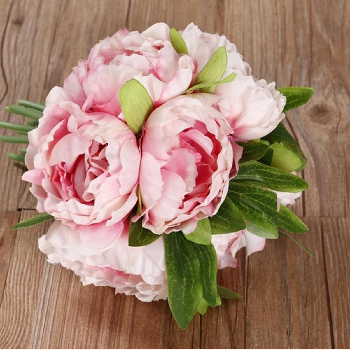 Bouquet 5 Heads Peony Flower