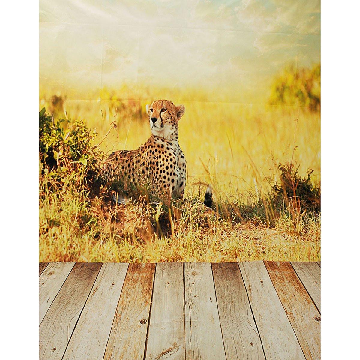 Szövet háttér stúdió fotózáshoz.Gepárdot ábrázoló fotó háttér 2.1m x 1.5m 1162162