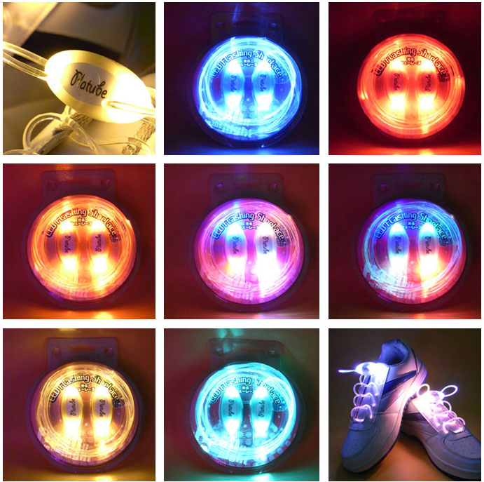 4 Mode LED Glowing Shoelaces Flash Night Light Shoelaces Shoe Strap Outdoor Dance Party Supplies