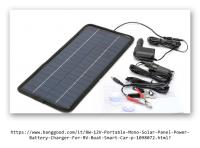 8W 12V Portable Mono Solar Panel Power Battery Charger For RV Boat Smart Car